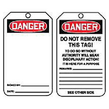 Accuform Signs 5 7 8in X 3 1 8in PF Cardstock Accident Prevention MDT185CTP