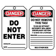 Accuform Signs 5 7 8in X 3 1 8in PF Cardstock Accident Prevention MDT187CTP