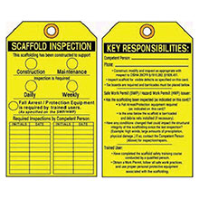 Accuform Signs 5 5 8in X 3 1 8in Yellow Black PF Cardstock TRS318CTP