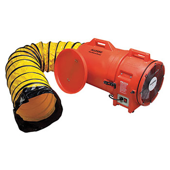 "Allegro ALE9543-25 27"" X 16"" X 17"" 1842 cfm 1 hp 110/220 VAC 50/60 Hz Motor Plastic Compaxial Blower With Canister And 12"" X 25' Flexible Duct"