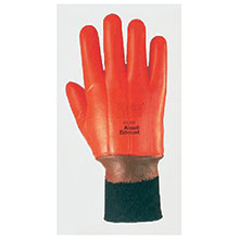 Ansell Edmont Cold Weather Gloves 10 Hi Viz Orange Winter Monkey Grip 205309