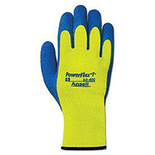 Ansell Edmont Cold Weather Gloves Size 8 Hi Viz Yellow Blue PowerFlex 80-400-8