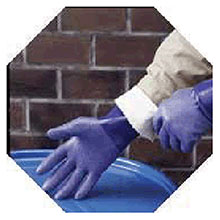 SHOWA Best Nitrile Gloves Size 8 Blue NSK 24 14in Cotton Interlock NSK24-08