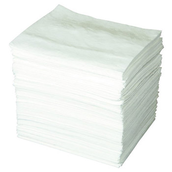 "Brady BRDENV200 15"" X 19"" SPC ENV White 1-Ply Meltblown Polypropylene Economy Light Weight Double Coverage Sorbent Pad"