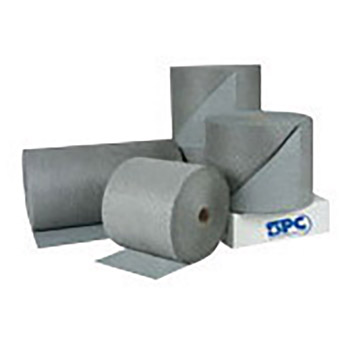 "Brady BRDHT153 15"" X 300' SPC Gray 2-Ply Meltblown Polypropylene Dimpled Medium Weight High Traffic Sorbent Roll, Perforated Every 15"""