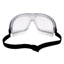 3M CAS16644-00000 Lexa GoggleGear Medium Splash Goggles With Clear Foam Lined Frame, Clear DX Anti-Fog Anti-Scratch Hard Coat Lens, Elastic Band And Standard Bridge