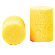 3M CAS312-1080 Single Use Classic Cylinder Shape PVC Foam Uncorded Earplugs With Vinyl Cord