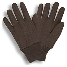 Cordova Work Gloves 1410C Standard Weight 100% Cotton Brown Jersey Glove 1410C