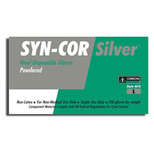 Cordova Disposable Gloves Syn Cor Silver Vinyl Industrial Grade 4075
