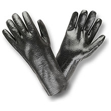 Cordova 5014R Black PVC coated glove Rough finish