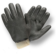 Cordova 5100I Black Double Dipped PVC Gloves