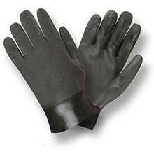 Cordova 5110SI Black Double Dipped PVC Gloves