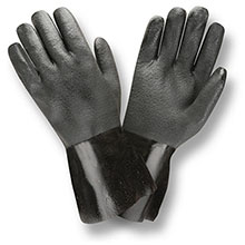 Cordova 5112I Black Double Dipped PVC Gloves