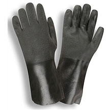 Cordova 5114J Black Double-Dipped PVC glove