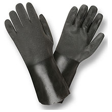 Cordova 5114SI Black Double Dipped PVC Gloves
