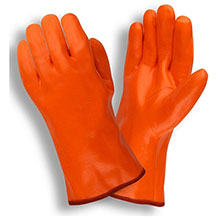 Cordova 5700G Single-Dipped Orange PVC Glove