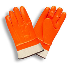Cordova 5710F/C Single-Dipped Orange PVC Glove