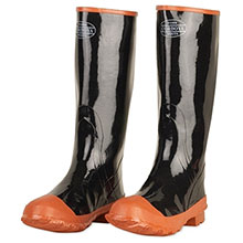 Cordova BB16 Black Rubber Boot w/ Red Soles