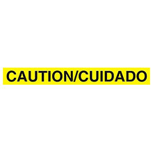 Cordova 2.0 Mil Yellow Bilingual Caution inCuidadoin T20103