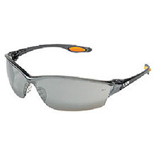 Crews Safety Safety Glasses Law 2 Smoke Frame Silver LW217