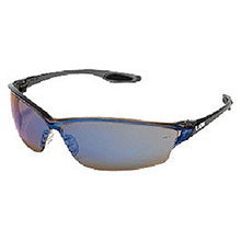 Crews Safety Safety Glasses Law 2 Smoke Frame Blue LW218