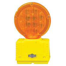 Cortina Safety Products CTM03-10-3WAYDC Group Amber D-Cell Barricade Light With Photocell And 3-Way Switch