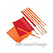 "Cortina Safety Products CTM03-229-3418 Group 24"" Orange Vinyl Warning Flag With 36"" Wood Dowel Handle"