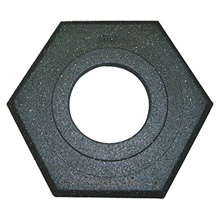 "Cortina Safety Products CTM03-752-16 15"" X 14"" X 3"" Black Recycled Rubber Trim Line Channelizer Cone Base"