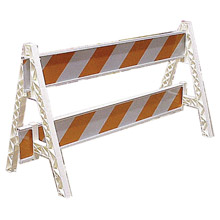 Cortina Safety Products CTM97-01-004 Group White Plastic Traffic Barricade A-Frame With Slots For Weight Cartridge