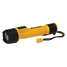 Energizer Batteries Contractor Yellow LED Flashlight INL2AAE