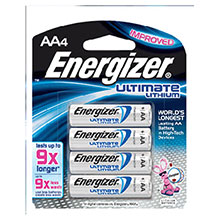 Energizer Batteries Ultimate AA Lithium L91BP-4