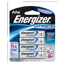 Energizer Batteries Ultimate AA Lithium L91BP-8