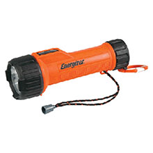 Energizer Batteries Orange LED Industrial Safety Flashlight MS2DLED