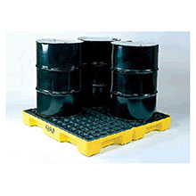 Eagle 1634 Four Drum (60 Gallon Capacity) Polyethylene Modular Spill Containment Platform