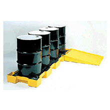 Eagle Manufacturing Four Drum Polyethylene In Line Spill Platform 1647