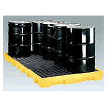 Eagle Manufacturing 8 Drum Polyethylene Low Profile Spill Containment 1688