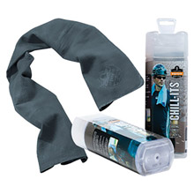 "Ergodyne E5712438 13"" X 29 1/2"" Gray Chill-Its 6602 PVA Evaporative Cooling Towel"