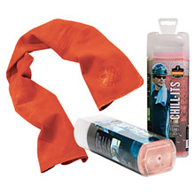 "Ergodyne E5712441 13"" X 29 1/2"" Orange Chill-Its 6602 PVA Evaporative Cooling Towel"