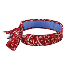 Ergodyne E5712563 Red Western Chill-Its 6700CT Advanced PVA Evaporative Cooling Bandana With Tie Closure And Towel