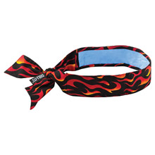 Ergodyne E5712568 Flames Chill-Its 6700CT PVA Evaporative Cooling Bandana With Tie Closure