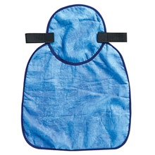 Ergodyne E5712596 Blue Chill-Its 6717CT Advanced PVA Evaporative Cooling Hard Hat Neck Shade With Hook And Loop Closure And Cooling Towel