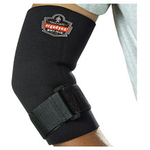 Ergodyne E5716582 Small Black ProFlex 655 Neoprene Ambidextrous Elbow Sleeve With Hook And Loop Closure And Adjustable Cinch Strap