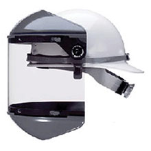 Fiber-Metal Honeywell Faceshields F 400 Noryl Dual Crown Ratchet Headgear FM5400DCCL