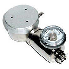 GASCO 1 200 PSI Demand Nickel Plated Brass Regulator 75-DFR