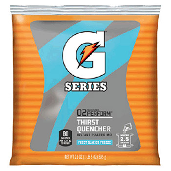Gatorade 21 Ounce Instant Powder Pouch Glacier Freeze 33677