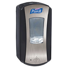 Go-Jo Industries Brushed Chrome 1200 ml Purell LTX 12 Dispenser 1928-04