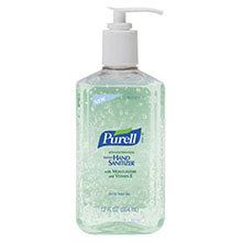Go-Jo Industries 12 Ounce Pump Bottle Clear Purell Advanced 3639-12