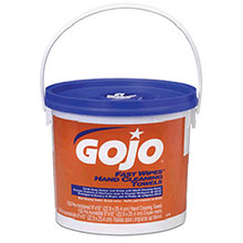 Go-Jo Industries 130 Count Bucket Fast Wipes Hand Cleaning 6298-04