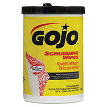 Go-Jo Industries 72 Count Canister Scrubbing Wipes 6396-06