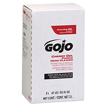 Go-Jo Industries 2000 ml Refill Cherry Gel Pumice Hand Cleaner 7290-04